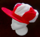 Red and White Jockey Flat Cap.